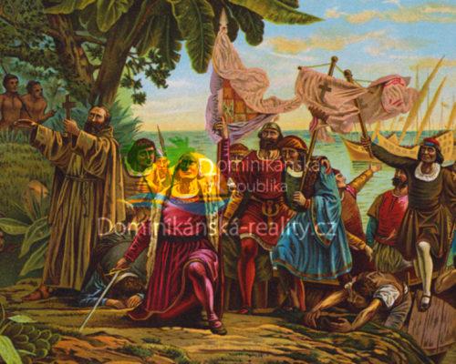 španělští mořeplavci s Kryštofem Kolumbem