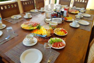 snídaně ve Villa Aris, ubytování v soukromí Dominikánská republika