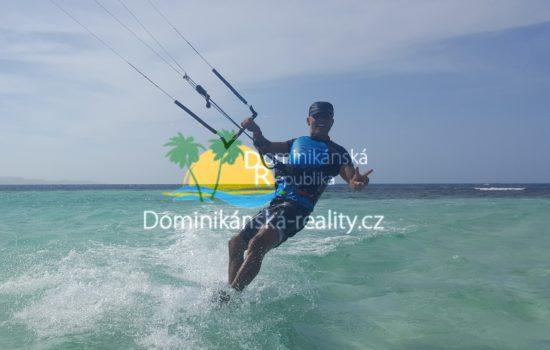 kitesurfing v Cabarete Dominikánská republika Villa Aris